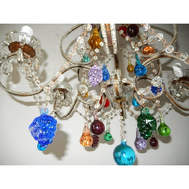 Italian Beaded Murano Colorful Fruit Chandelier, 1920 For Sale In Los Angeles - Image 6 of 12
