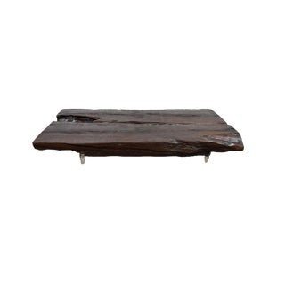 Canella Wood Handmade Live Edge Eco-Friendly Two Piece Coffee Table- Tree Root For Sale