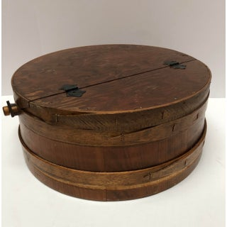 1930s Shaker Firkin Wood Sewing Basket Preview