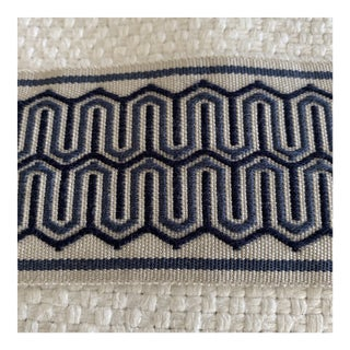 "Designer Navy Blue 2 1/8"" Trim- 1 3/4 Yard For Sale"