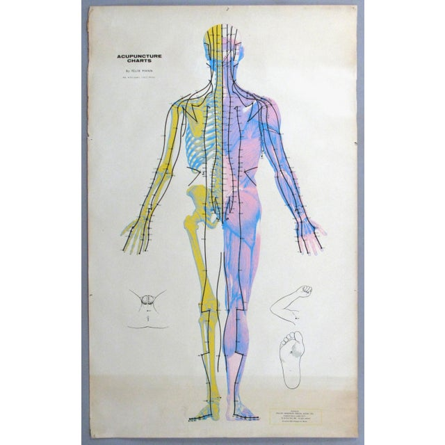 A wonderful set of three vintage 1960s Serigraphs back with Linen of the human body in various poses with detailed...