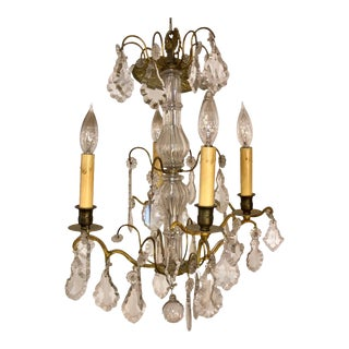 Antique Baccarat French Crystal Chandelier For Sale