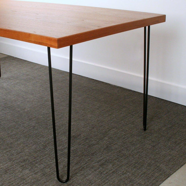 Teak Hairpin Dining Table - Image 3 of 5
