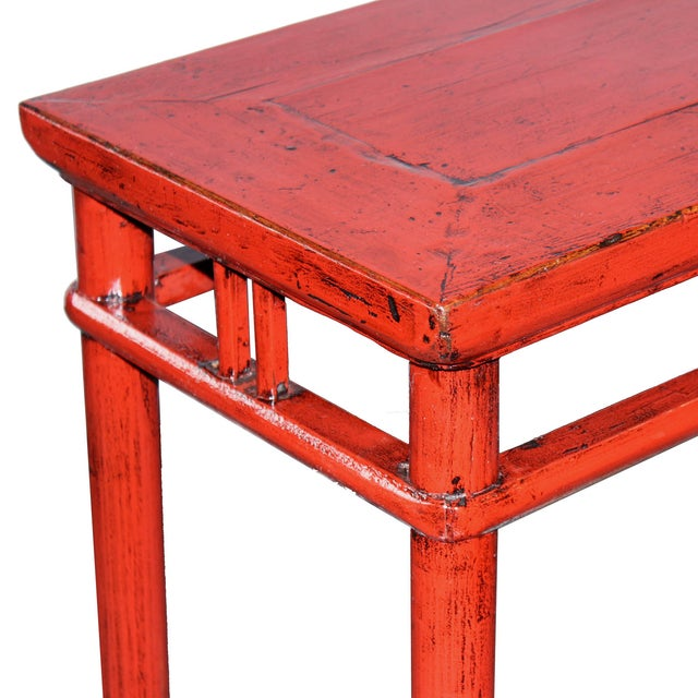Red Console Table - Image 3 of 5