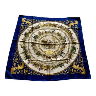 Hermes Equine Theme Silk Scarf For Sale