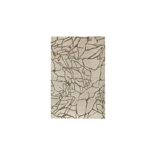 Hand-Knotted Wool & Silk Rug - 6′5″ × 9′1″ For Sale