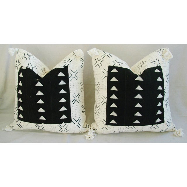 Handwoven African Tribal Textile Pillows - Pair - Image 7 of 10