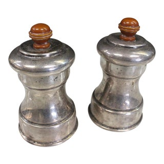 Early 20th Century Art Deco Salt and Pepper Shakers - a Pair For Sale