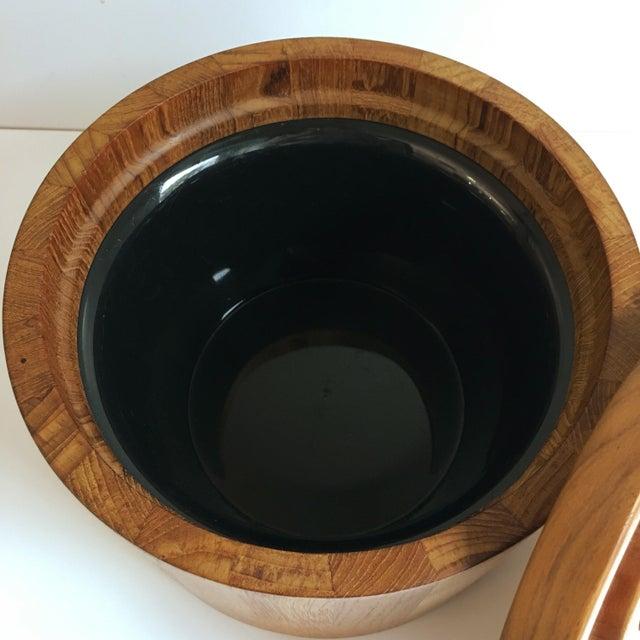 Dansk Dansk Teak Ice Bucket & Tongs - A Pair For Sale - Image 4 of 5