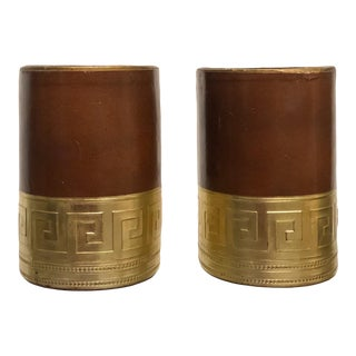 1970s Vintage Greek Key Bookends - a Pair For Sale