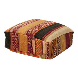 Boho Chic Moroccan Kilim Pouf