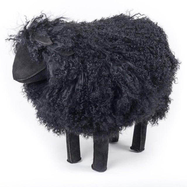 1970s Tibetan Medium Black Sheep For Sale - Image 5 of 5