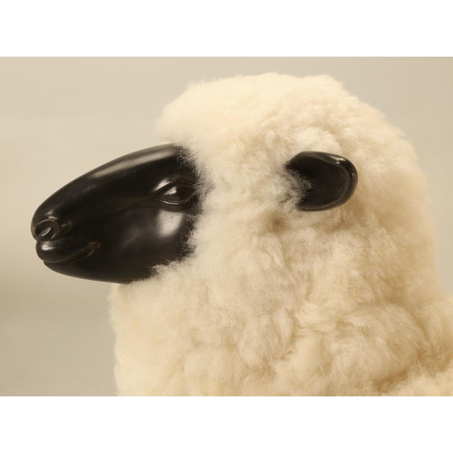 Animal Skin Baby Lamb Hand Made by Old Plank Collection For Sale - Image 7 of 11