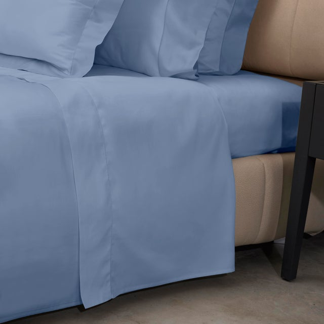 Traditional Raffaello Sheet Set in King in Air Force Blue - 4 Pieces For Sale - Image 3 of 4