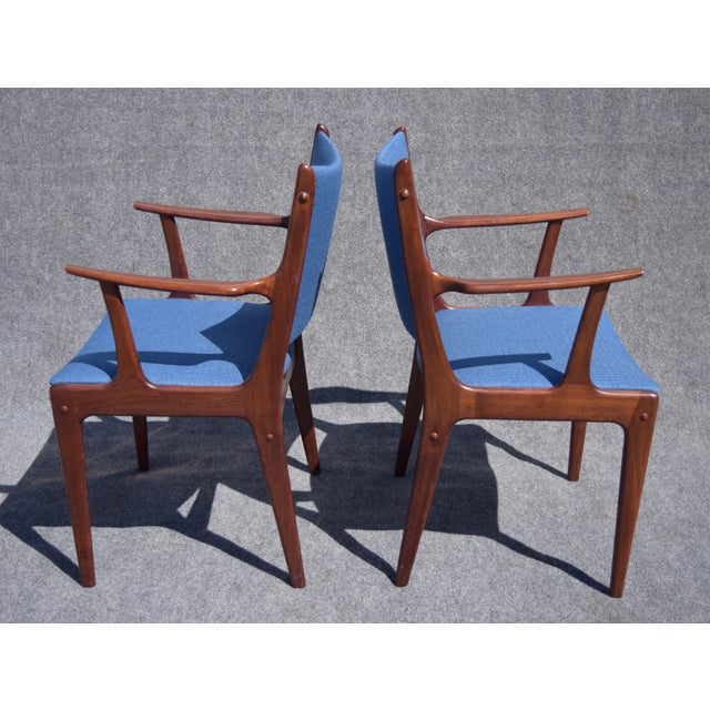 Johannes Andersen Danish Modern Rosewood Dining Chairs - Set of 6 - Image 8 of 9