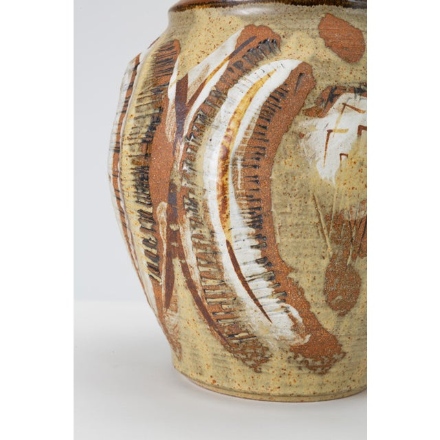 California Modern Large Studio Pottery Jar With Lid by Don Jennings For Sale - Image 11 of 13