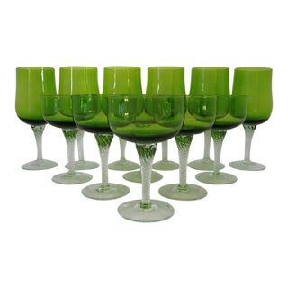 Vintage Colony Glass Stemware- Set of 12 For Sale