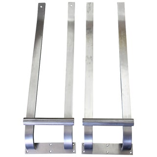 Pair of Steel Door Handles For Sale