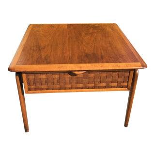 Lane Perception Walnut Side Table For Sale
