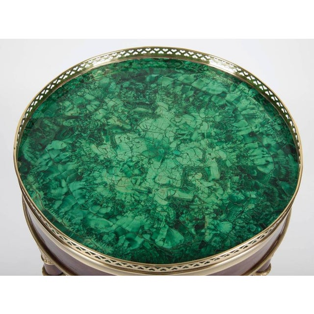 Neoclassical Russian Neoclassical Mahogany, Malachite and Ormolu-Mounted Gueridon For Sale - Image 3 of 9