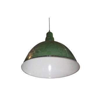 Early 20th Century Large Industrial Pendant Lamp For Sale