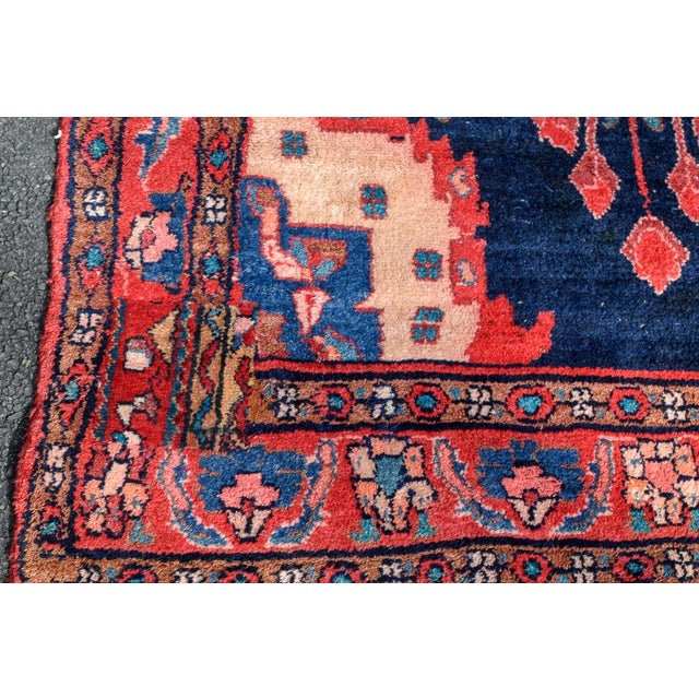 Cotton Vintage Mid-Century Hand-Knotted Persian Rug - 4′8″ × 9′11″ For Sale - Image 7 of 13