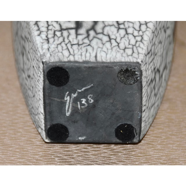 Metal Tony Evans Raku Fired Studio Pottery Decorative Art Vase For Sale - Image 7 of 9