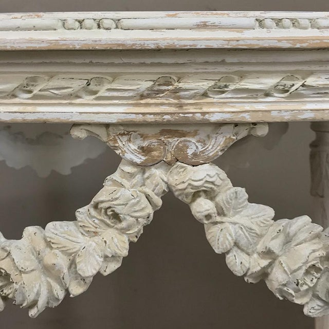 19th Century French Louis XVI Marble Top Table For Sale - Image 9 of 13