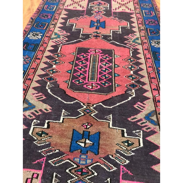 1970s Vintage Turkish Caucasian Rug-3'8'x6'2' For Sale - Image 5 of 6