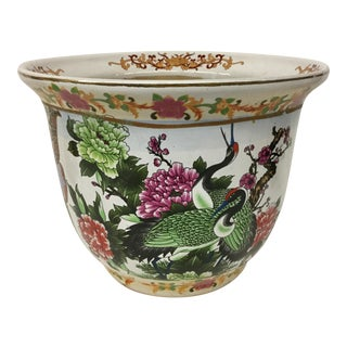 Mid Century Vintage Hollywood Glam Chinese Planter For Sale