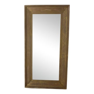 Rubbed Gold Wall Mirror For Sale