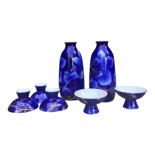Fukagawa Sake 7 Piece Set For Sale