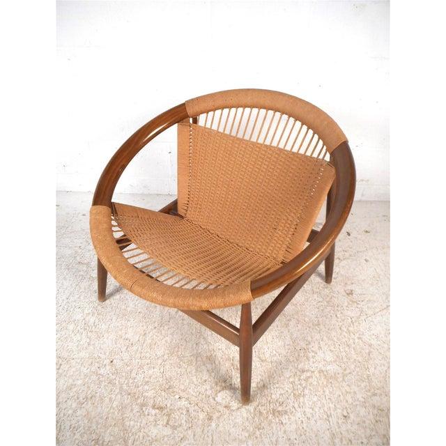 """Danish Modern """"Ringstol"""" Hoop Chair by Illum Wikkelsø For Sale - Image 12 of 12"""