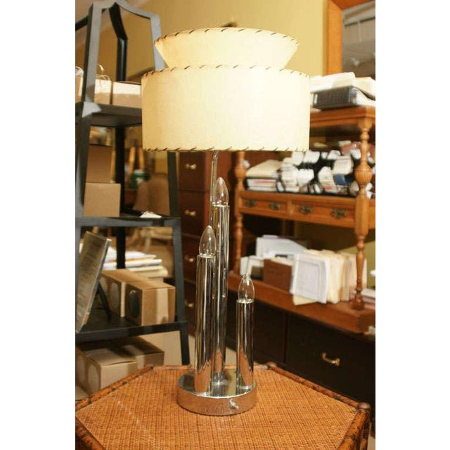 Mid-Century Modern Chrome Table Lamps - A Pair For Sale - Image 3 of 5