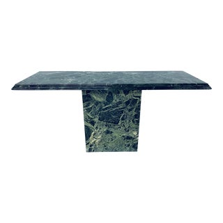 Italian Modern Green Marble Console Table For Sale