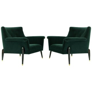Pair of Mid Century Italian Lounge Chairs, Circa 1958 For Sale