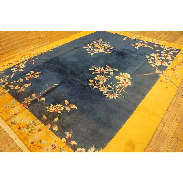 1920s Antique Chinese Art Deco Rug- 8′10″ × 11′4″ For Sale - Image 5 of 6