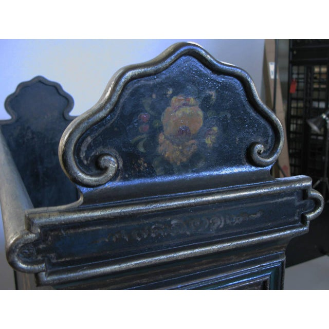 Antique Victorian Hand-Painted Cast Iron Bed For Sale In New York - Image 6 of 8
