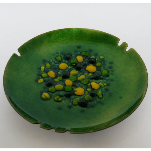 Copper Enamel Ashtray - Image 3 of 7