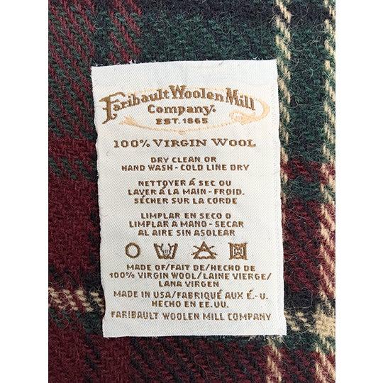 Vintage Faribault Plaid Pak a Robe Wool Blankets - Set of 5 - Image 7 of 8