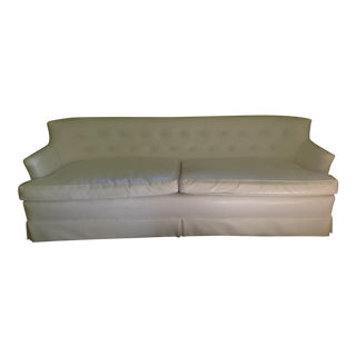 Vintage White Faux Leather Sofa