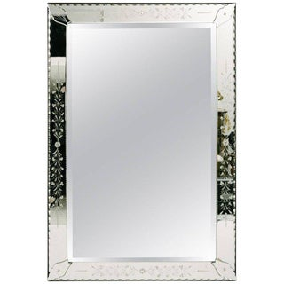 1940 Vintage Rectangular Venetian Mirror For Sale