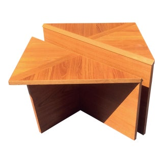Vintage Danish Modern Teak Triangle Tables
