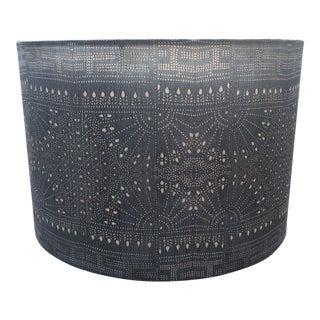 Indigo Batik Sashiko Lampshade For Sale