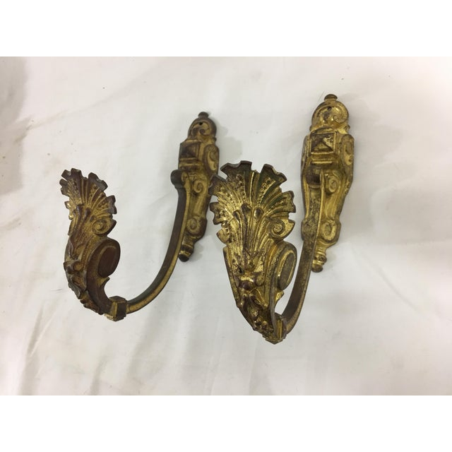 Napoleon III Bronze Dore Tiebacks or Hooks - a Pair For Sale - Image 10 of 10