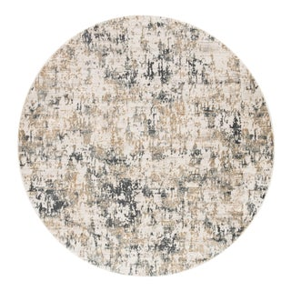 Jaipur Living Arvo Abstract White Dark Gray Round Area Rug 8'X8' For Sale