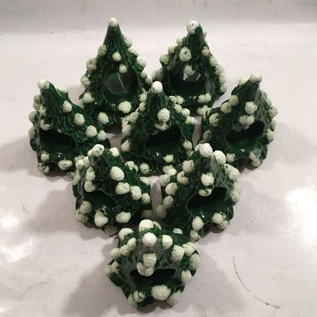 Vintage Christmas Tree Napkin Rings - Set of 8 - Image 3 of 8