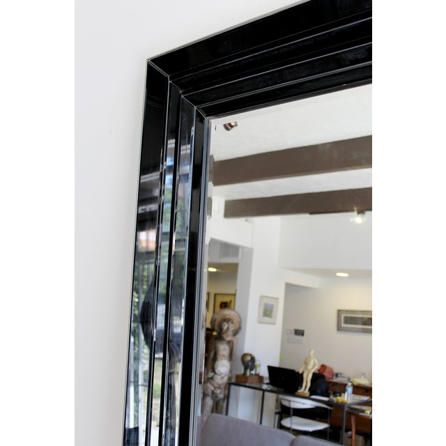 Large Black and Clear Frame Mirror - Image 3 of 4