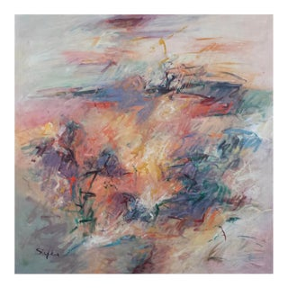 Abstract Expressionist Painting on Canvas For Sale