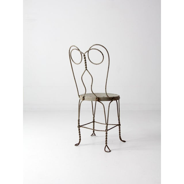 Vintage Ice Cream Parlor Chair For Sale - Image 4 of 9